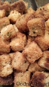 Homemade Seasoned  Croutons