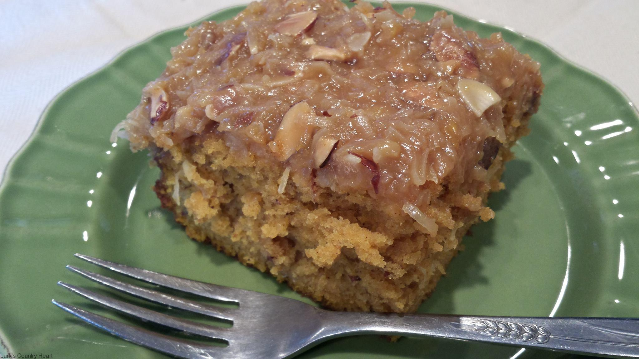 Sweet Potato Cake with Praline Frosting
