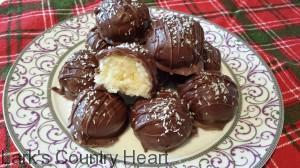 Christmas Coconut Truffles