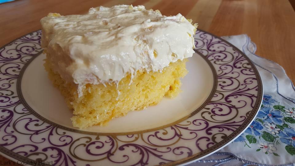 Pineapple Vanilla Pudding Cool Whip Cake