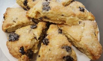 Dried Cherry Vanilla Scones